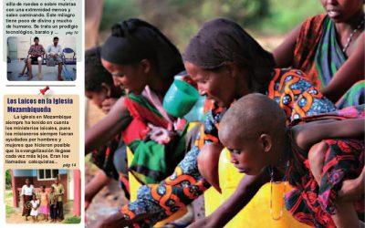 Artículo sobre el agua en la revista Antena Misionera