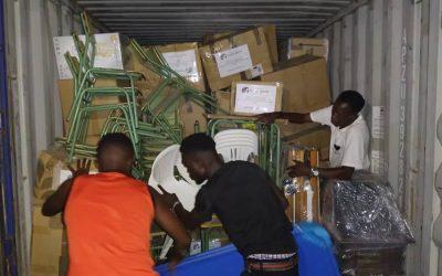 LLegada del contenedor a Burkina Faso